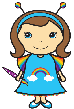 Rainbow Belle with her Enchanted Paintbrush