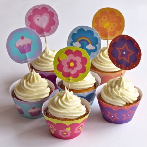 Magic Belles Cupcake Wrappers and Toppers