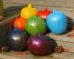 Rainbow Pumpkins