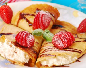 Strawberries and Ice Cream Pancake