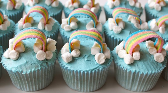 Cupcake Belle's Rainbow Cupcakes