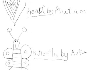 Autum's Heart and Butterfly