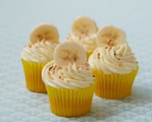 Banana Toffee Treat Cupcakes