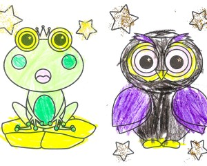 Bouncy Frog and Wise Owl
