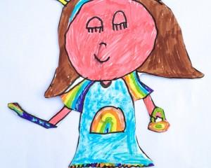 Edie's Wonderful Rainbow Belle