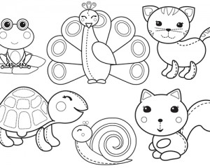 New Cute Animals Colouring Fun