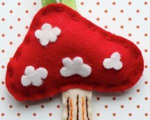 Cute red mushroom